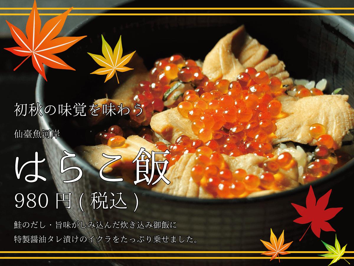 初秋の味覚を味わう_仙臺魚河岸_はらこ飯