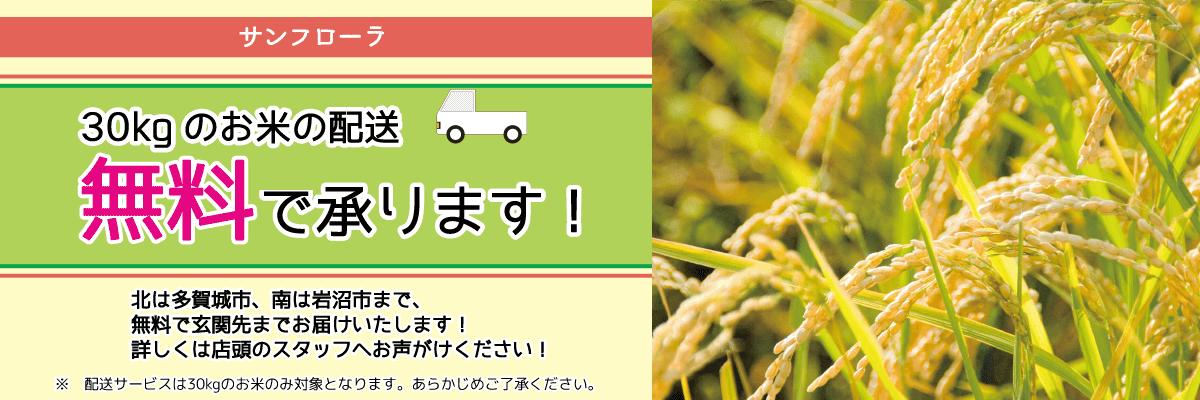 サンフローラ_お米配送