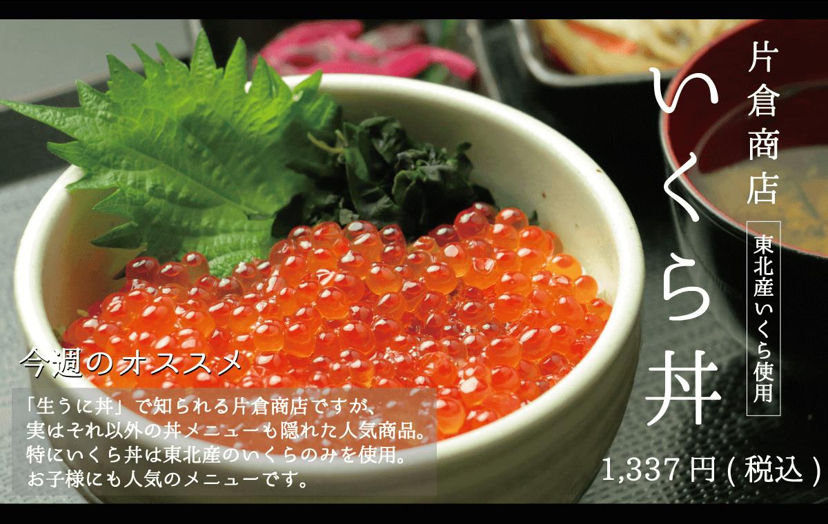 片倉商店_いくら丼_東北産いくら使用_お子様に人気メニュー
