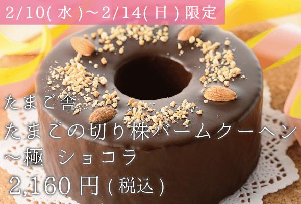 たまご舎_たまごの切り株バームクーヘン〜極ショコラ_2,160円(税込)