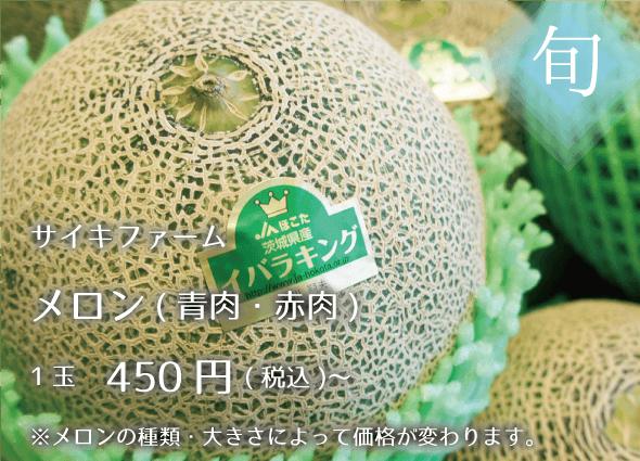 メロン(青肉・赤肉) 1玉450円~