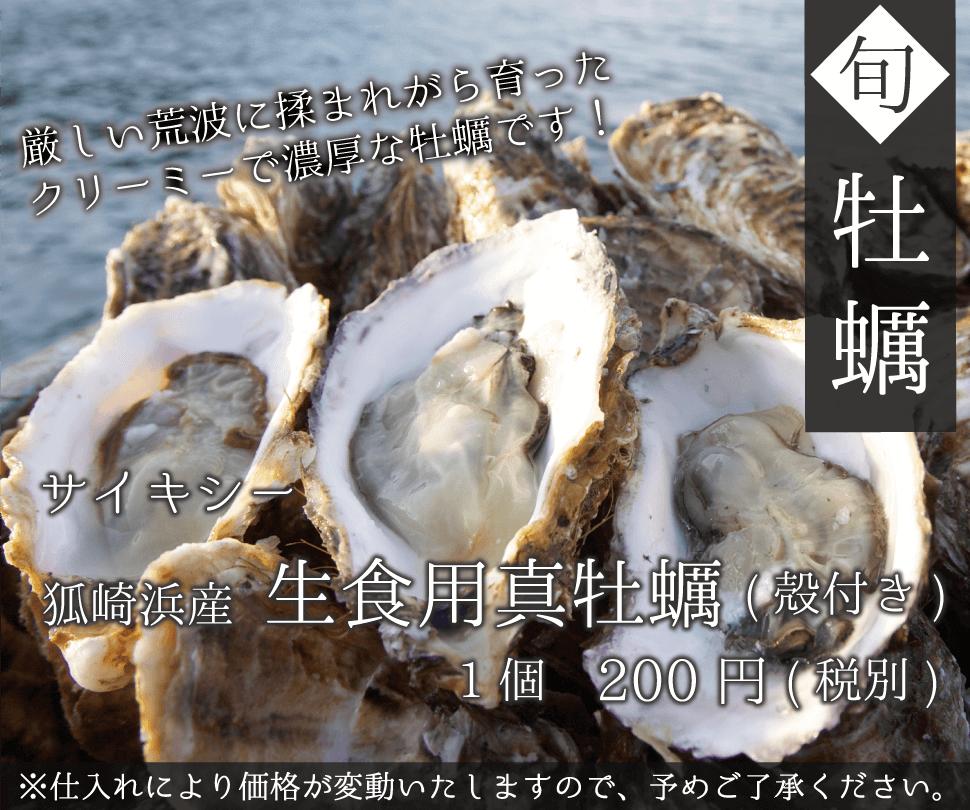 サイキシー 石巻狐崎浜産 生食用真牡蠣(殻付き)