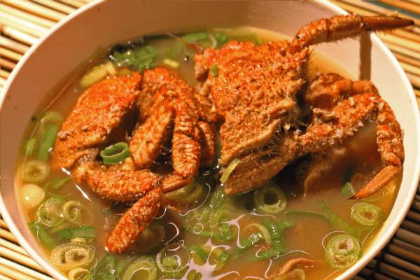 つくも蟹の味噌汁