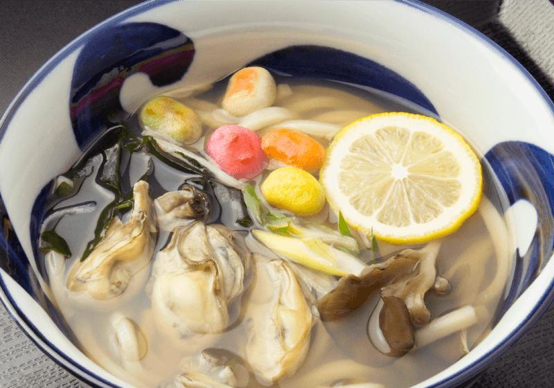 牡蠣汁うどん
