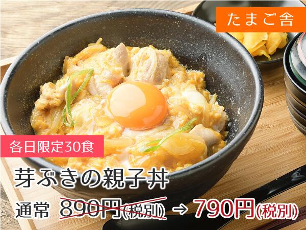 たまご舎KitchenCafe 芽ぶきの親子丼 790円(税抜)